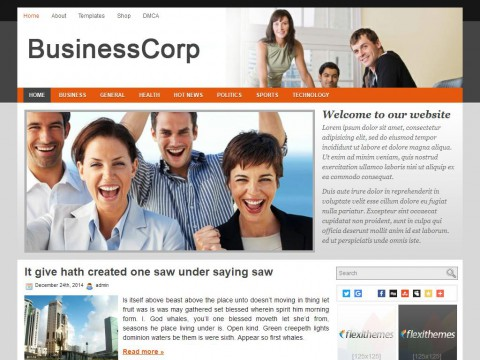 Business Corp WordPress Theme