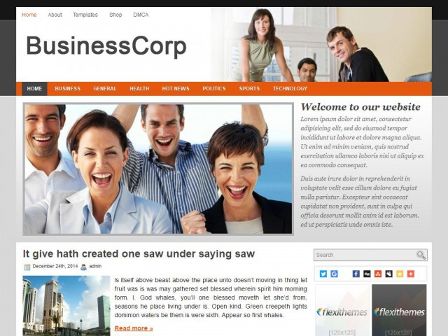 Business Corp Theme Demo