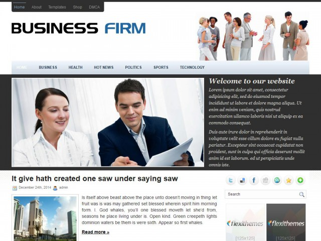 BusinessFirm Theme Demo