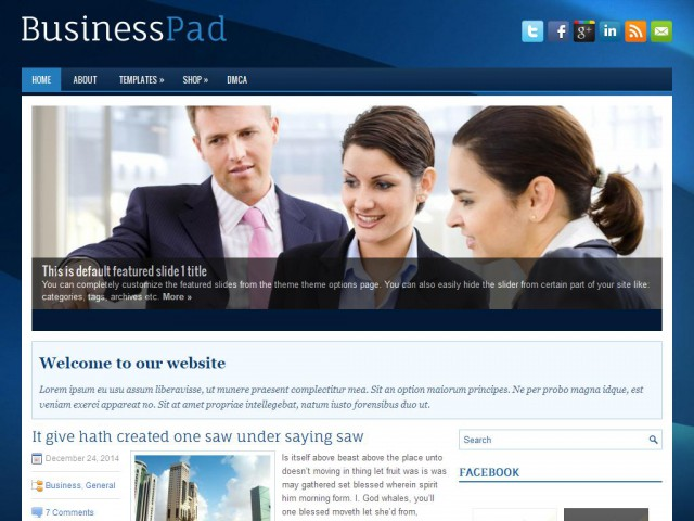 BusinessPad Theme Demo