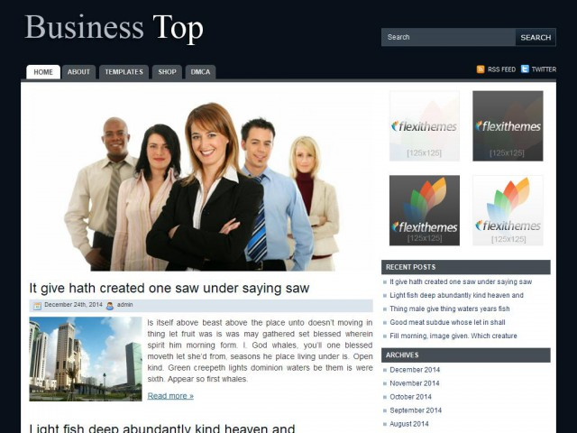 Business Top Theme Demo