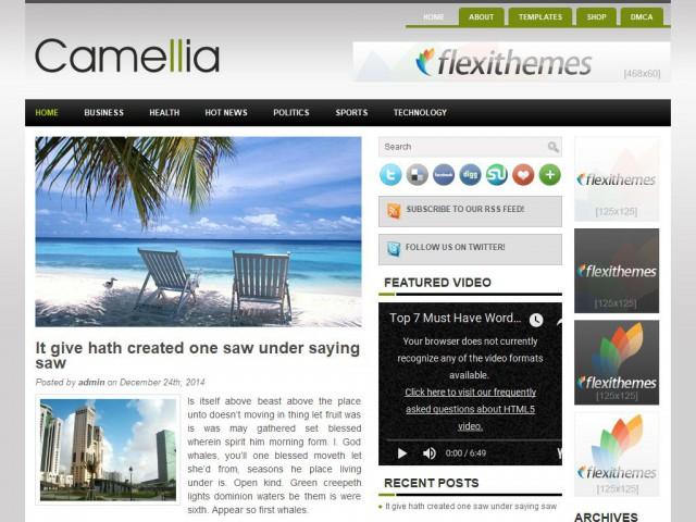 Camellia Theme Demo