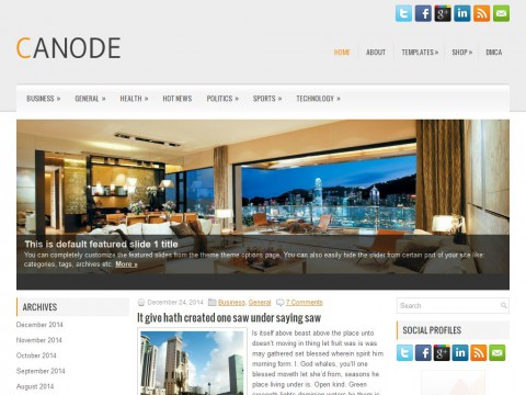Canode WordPress Theme