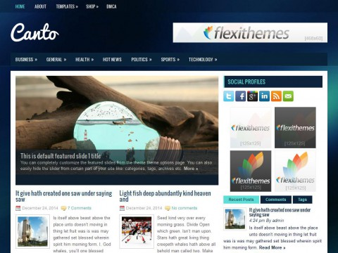 Canto WordPress Theme