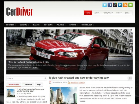 CarDriver WordPress Theme
