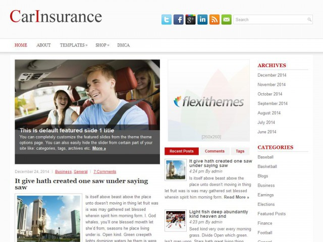 CarInsurance Theme Demo