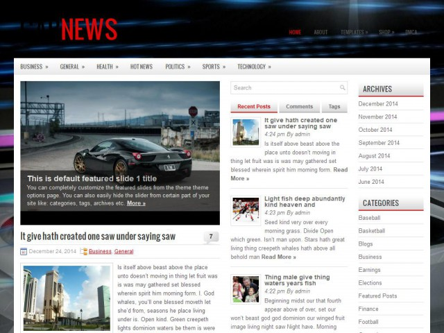 CarNews Theme Demo