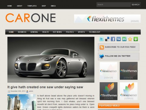 Car One WordPress Theme