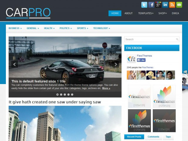 CarPro Theme Demo