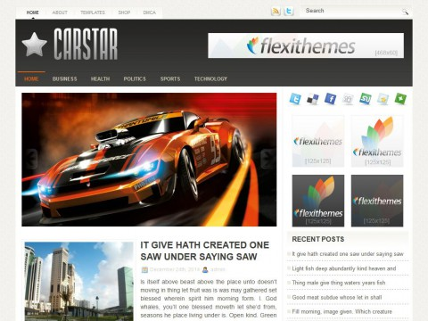 CarStar WordPress Theme