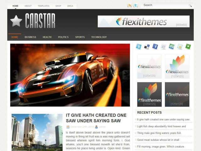 CarStar Theme Demo