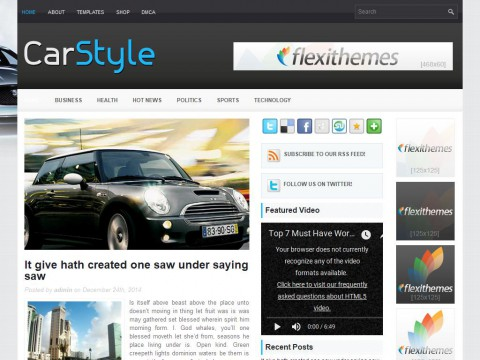 CarStyle WordPress Theme