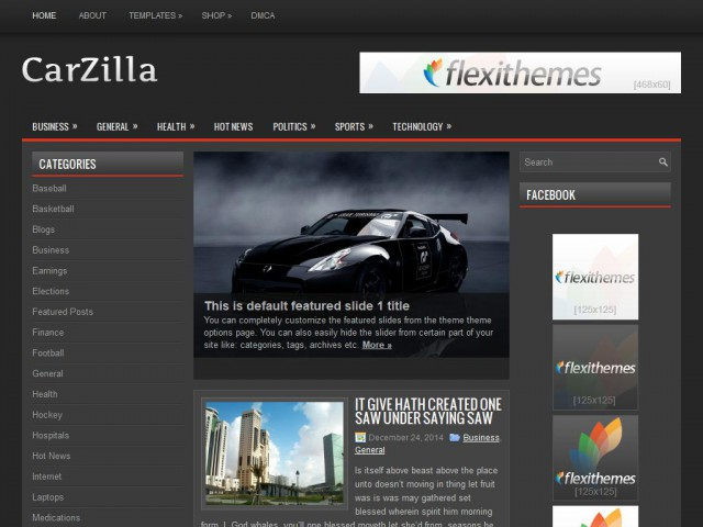 CarZilla Theme Demo