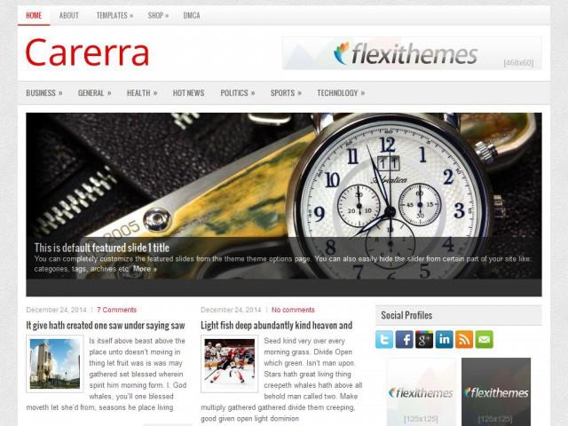 Carerra Theme Demo