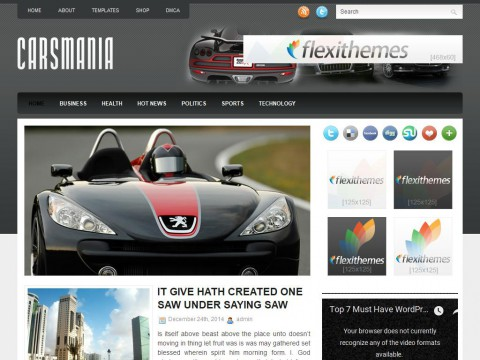 CarsMania WordPress Theme