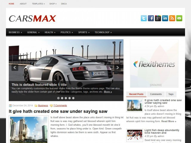 CarsMax Theme Demo