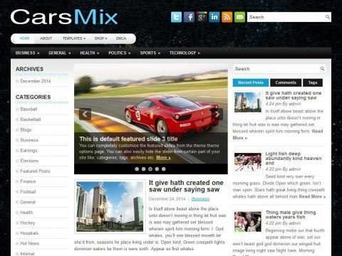 CarsMix WordPress Theme