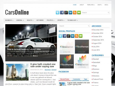 CarsOnline WordPress Theme