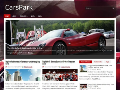 CarsPark WordPress Theme