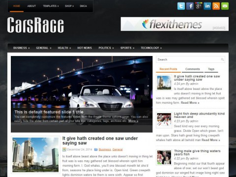 CarsRace WordPress Theme