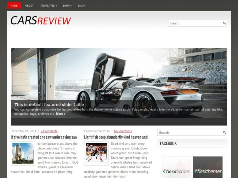 CarsReview WordPress Theme