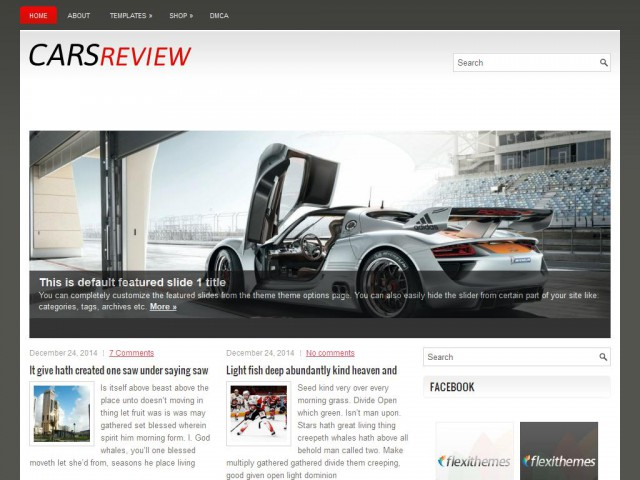 CarsReview Theme Demo