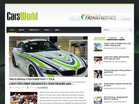 CarsWorld WordPress Theme