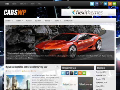 CarsWp WordPress Theme