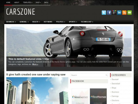 CarsZone WordPress Theme