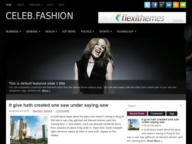 CelebFashion Theme Demo
