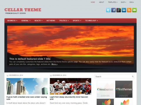 Cellar WordPress Theme