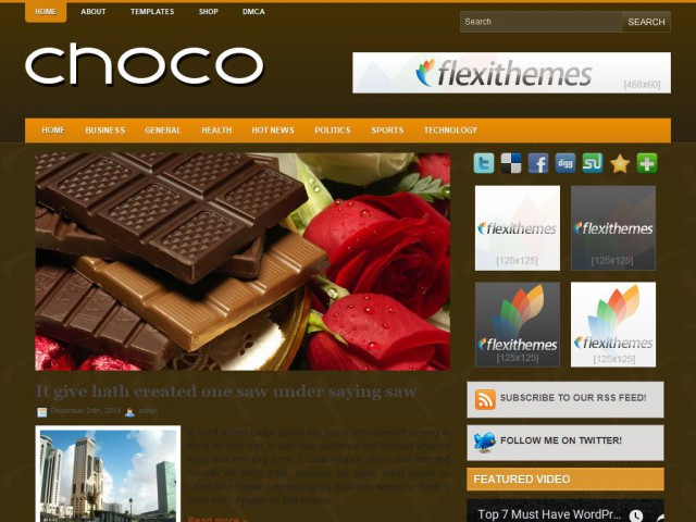 Choco Theme Demo