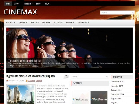 Cinemax WordPress Theme