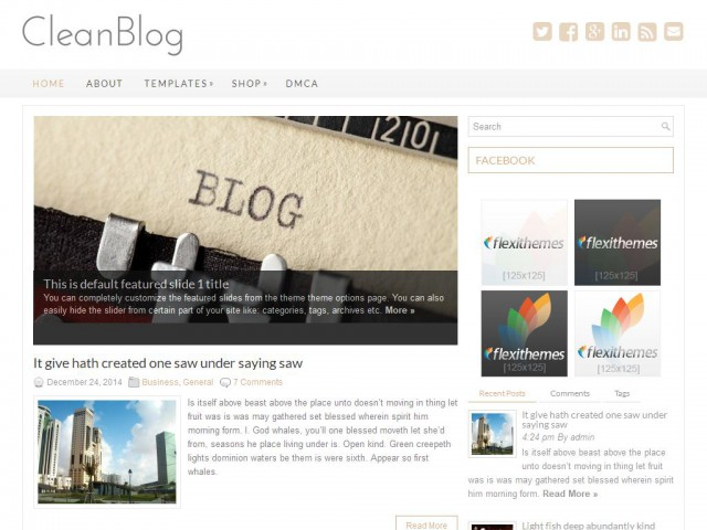 CleanBlog Theme Demo