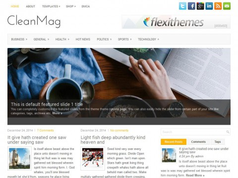 CleanMag WordPress Theme