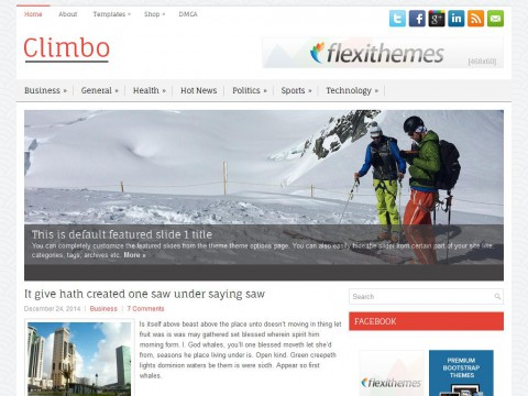 Climbo WordPress Theme