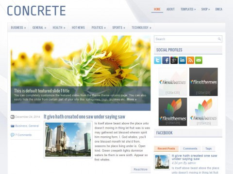 Concrete WordPress Theme