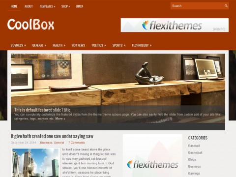 CoolBox WordPress Theme