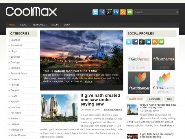 CoolMax Theme Demo