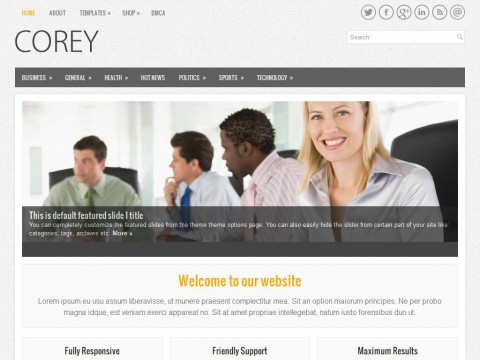 Corey WordPress Theme