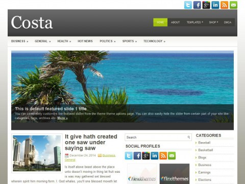 Costa WordPress Theme