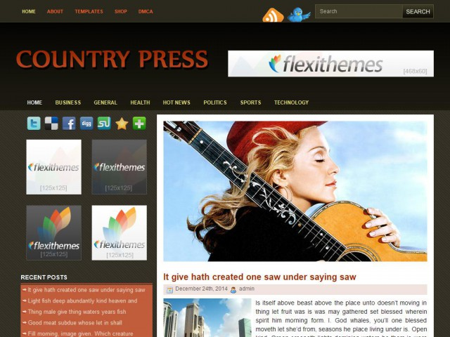 Country Press Theme Demo