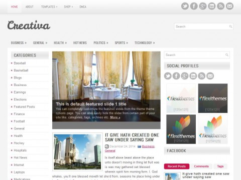 Creativa WordPress Theme