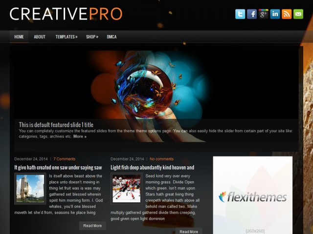 CreativePro Theme Demo