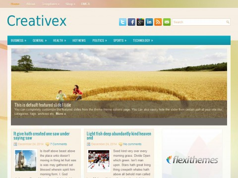 Creativex WordPress Theme