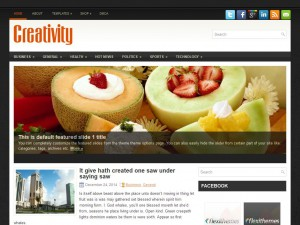 Creativity WordPress Theme