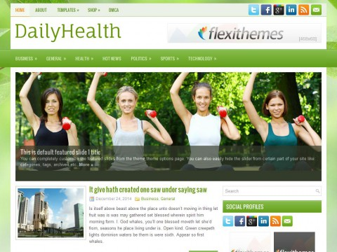 DailyHealth WordPress Theme