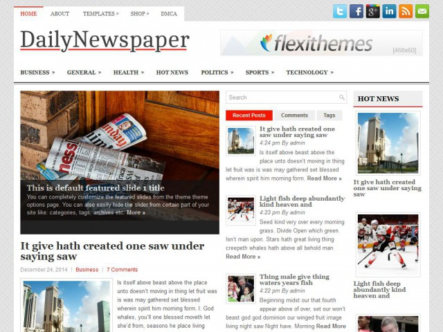 DailyNewspaper Theme Demo