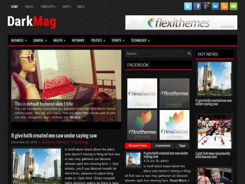 DarkMag WordPress Theme