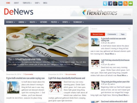 DeNews WordPress Theme